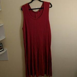 Nic + Zoe Drop Waist Red Knit Dress